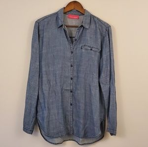 Pookie and sebastian chambray button down large